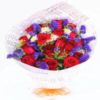 【花语叶情】鲜花速递19支红玫瑰送爱人 送闺蜜 送朋友 节日鲜花 生日礼品鲜花 北京 上海 广州 武汉全国同城鲜花速递