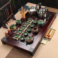茶具套装四合一陶瓷整套功夫家用办公实木茶盘茶台茶海 39件