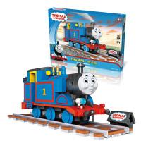 托马斯积木玩具兼容托马斯轨道小火车拼装积木詹姆斯12岁男孩拼装模型玩具 蓝色 1804