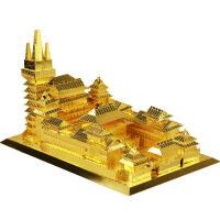 3D立体金属拼图拼装模型建筑静安寺手工创意高难度玩具定制 静安寺建筑模型