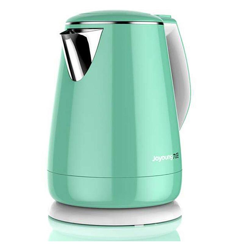 九阳(Joyoung)电热水壶304不锈钢烧水防烫1.5L开水煲水壶K15-F29 双层杯体,防干烧防烫