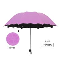 泰蜜熊遇水开花晴雨两用单人伞黑胶防紫外线太阳伞(颜色随机发)(粉色、紫色、天蓝色、薄荷绿、玫红5色下单可备注颜色)