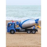 儿童玩具工程车音乐罐车男孩女孩大号惯性可搅拌车玩具水泥罐车
