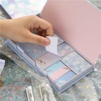 盒装便签贴纸套装创意韩国ins便利贴可爱卡通少女便签纸便利签
