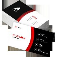 名片制作 办公定制 彩印设计公司商务名片印刷双面定做个性pvc名片卡片不干胶名片代金券制作 彩色覆膜 200张