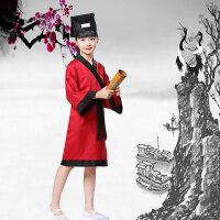 儿童国学服装汉服书童服装男童三字经弟子规演出服朗诵服儿童服装