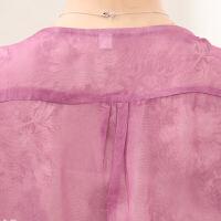 �����b夏季雪�衫新款短袖40-50�q大�a��松中老年女�bT恤上衣服薄 粉�t色 XL