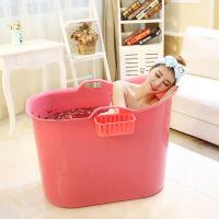 泡澡桶可折叠浴桶家用洗澡桶加厚塑料浴缸浴盆大号儿童洗澡桶