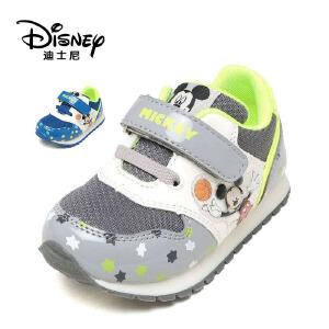 鞋柜/迪士尼米奇童舒底休闲鞋防滑魔术贴男运动鞋