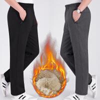 中老年棉裤男外穿加绒加厚冬季老年人爸爸运动裤男爷爷老人松紧裤