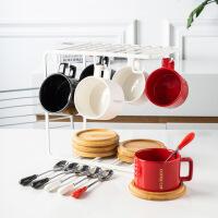北欧陶瓷咖啡杯碟套装欧式小创意女家用简约英式下午茶花茶具