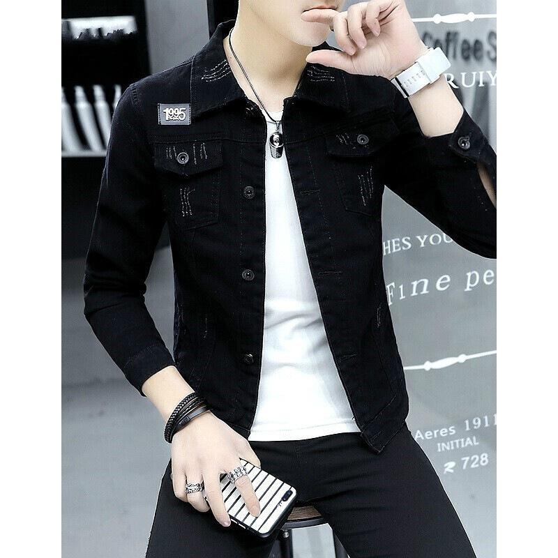 男士牛仔夹克男春秋季韩版牛仔衣服潮流男装社会小伙个性ins外套