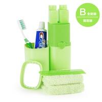 旅行洗漱杯牙膏牙刷便携套装多功能收纳盒户外旅游用品洗漱包男女
