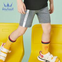 【3件3折:41元】souhait水孩儿童装夏季新款儿童针织五分裤男大童短裤运动短裤SHNXBD14CE613
