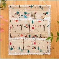收纳挂袋布艺挂墙上挂壁多层整理袋壁挂式储物收纳袋