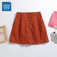 [满99减10元/满199减30元]真维斯女装 2019夏装新款  休闲净色宽松时尚短裤