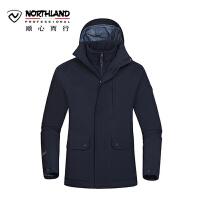 【过年不打烊】诺诗兰新款男款休闲三合一户外防水透湿保暖冲锋衣GS075613