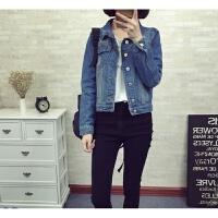 牛仔外套女2018夏装韩版新款修身显瘦大码女装高腰牛仔衬衫女长袖