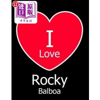 【中商海外直订】I Love Rocky Balboa: Large Black Notebook/Journal f