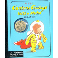 Curious George Gets a Medal Gift Edition 好奇猴乔治得奖章啦! 9780618