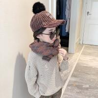 儿童秋冬季围巾女童韩版婴儿针织毛线保暖洋气小女孩可爱宝宝围脖