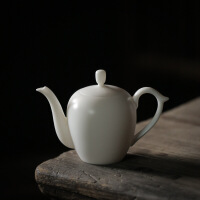 陶瓷茶壶家用小号单壶白瓷功夫茶具纯手工玉瓷壶过滤沏茶美人壶 美人肩壶