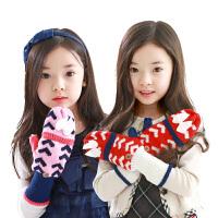 韩国儿童手套冬款可爱女童手套宝宝手套公主手套小孩手套2-4-8岁