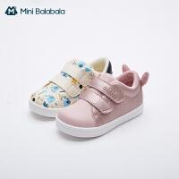 迷你巴拉巴拉儿童学步鞋2020秋冬新款男童女童鞋卡通图案穿脱方便