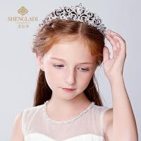 儿童皇冠发饰 公主王冠发箍女孩头箍演出配饰花童发饰
