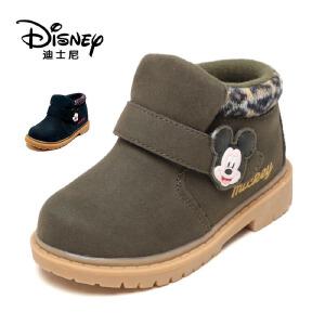 【达芙妮集团】迪士尼 童鞋男童棉鞋加绒保暖短靴子中童鞋保暖男童时尚马丁靴