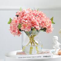 透明玻璃花瓶摆件 客厅仿真花假花摆件 家居电视柜餐桌办公室装饰品