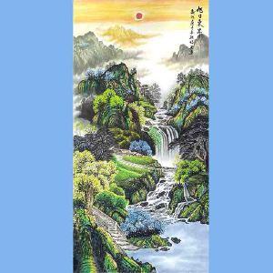中国美协会员,中国书协会员,龙云书画院院长候桂峰(旭日东升)1