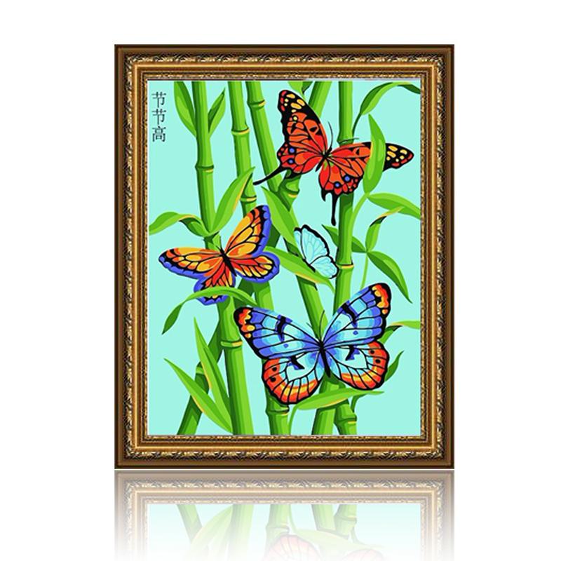 舞动色彩 节节高 diy数字油画风景彩绘装饰画 w0244