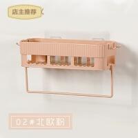 家用卫生间置物架吸盘壁挂洗手间厨房三角收纳篮厕所浴室免打孔收纳架SN0100