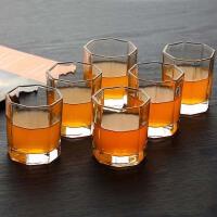 家用水杯套装客厅玻璃杯子6只装简约家庭泡茶喝茶杯子成套喝水具