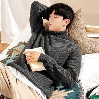 秋冬季ulzzang高领毛衣男宽松韩版潮流个性毛衫男士针织衫