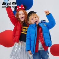 波司登童装2018儿童迪士尼联名款女童保暖面包服羽绒服