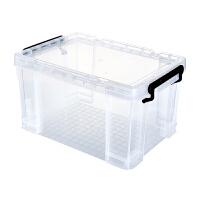 透明收纳箱塑料有盖衣服玩具收纳盒车载整理箱特大号加厚储物箱子 食品级pp环保无味透明收纳箱