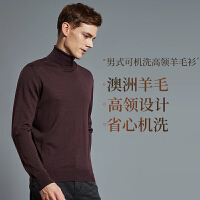 【网易严选 顺丰配送】男式高领可机洗100%轻薄羊毛衫