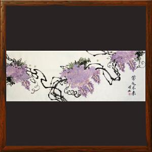 紫藤花《紫气东来》朱增旭R4927 一级美术师