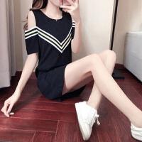 洛丽塔Lolita裙子夏季中长款过膝POLO领连衣裙新款女装韩版学生宽松中袖学院风