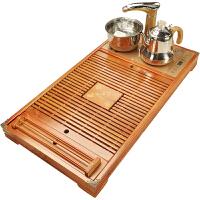 全自动四合一家用茶盘实木功夫茶台储水竹木茶托盘电热磁炉