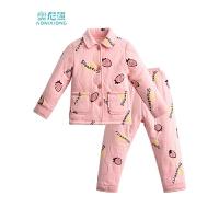 女童睡衣冬季厚款夹棉宝宝小女孩家居服套装新款儿童睡衣冬