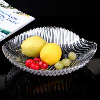 无铅水晶玻璃时尚创意欧式水果盘子大号果盆客厅糖果罐水果篮加厚