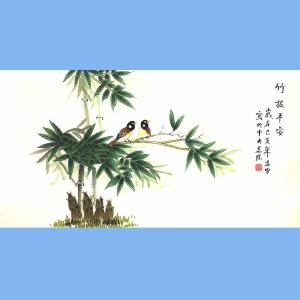 北京市美术家协会会员,北京市著名工笔画画家凌雪(竹报平安)