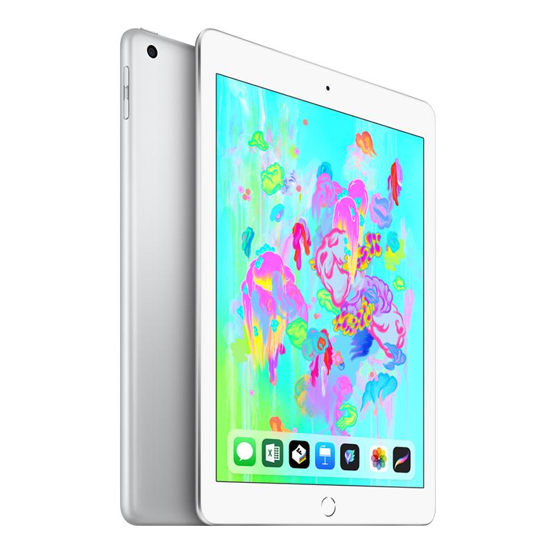 Apple iPad 平板电脑 2018新款9.7英寸(32G WLAN版/A10 芯片/Retina显示屏/Touch ID技术MR7G2CH/A)银色国行正品,可使用礼品卡支付