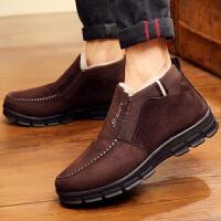 老北京布鞋冬季老人男棉鞋保暖加绒加厚中老年爸爸鞋高帮防滑男鞋