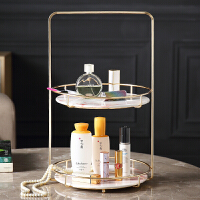 卫生间化妆品置物架 浴室梳妆台桌面护肤品金属收纳架卫生间置物架