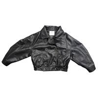 宝宝皮衣209韩版童装新款冬装女童皮衣蝙蝠衫上衣儿童皮衣外套