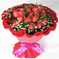 花语叶情鲜花速递19支玫瑰全国同城鲜花 节日鲜花  生日鲜花 爱人鲜花 闺蜜礼品鲜花